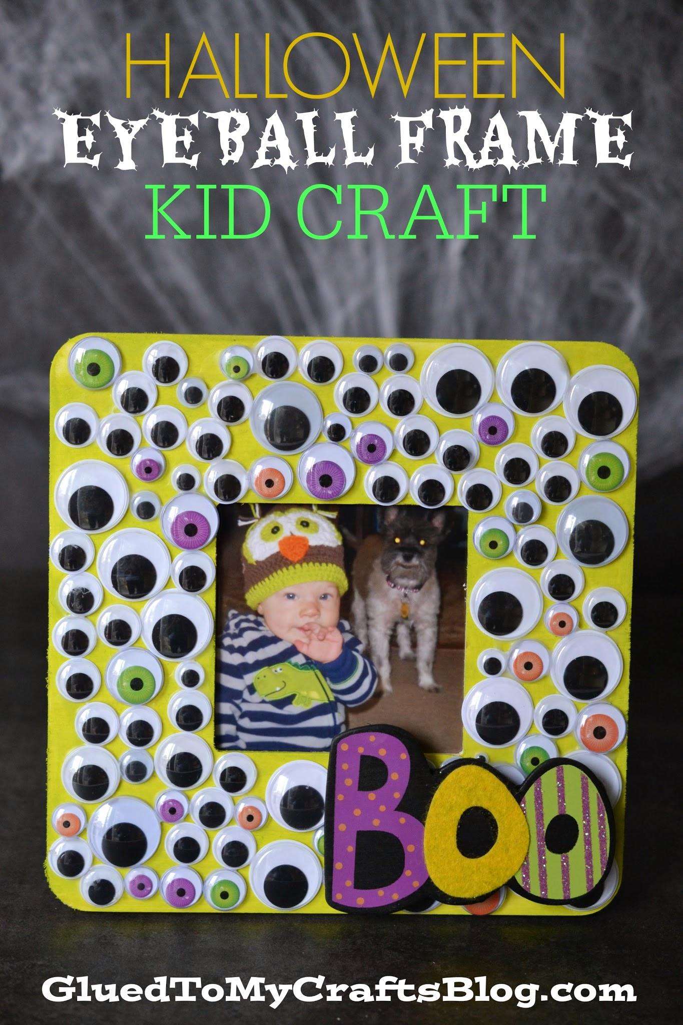 Halloween Eyeball Frame {Kid Craft}