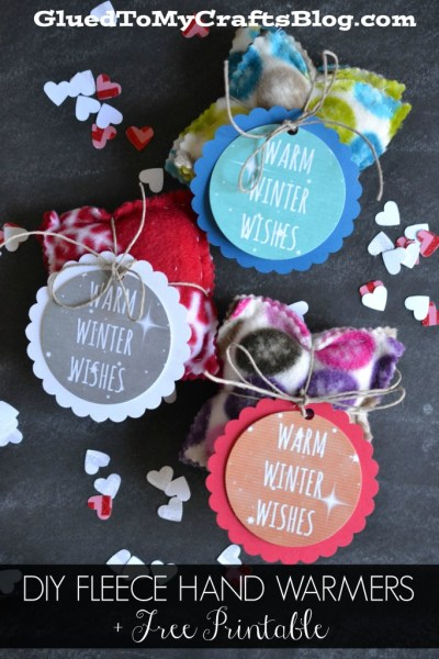 DIY Fleece Hand Warmers & Free Printable