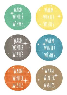 Warm Winter Wishes Printable
