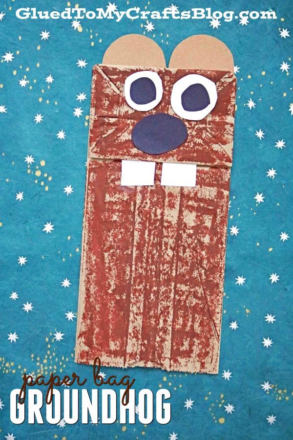 Paper Bag Groundhog {Kid Craft}