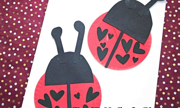 Cupcake Liner Ladybugs {Kid Craft}