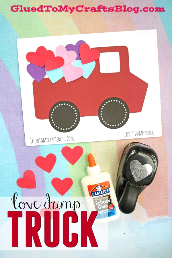 Love Dump Truck - Valentine's Day Kid Craft Idea & Free Printable