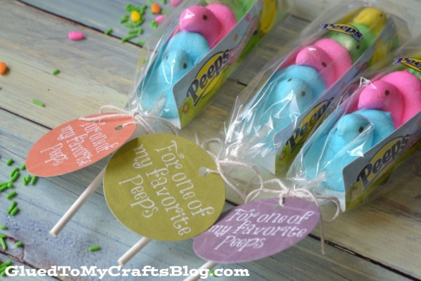 Easter Peeps - Gift Idea & Free Printable