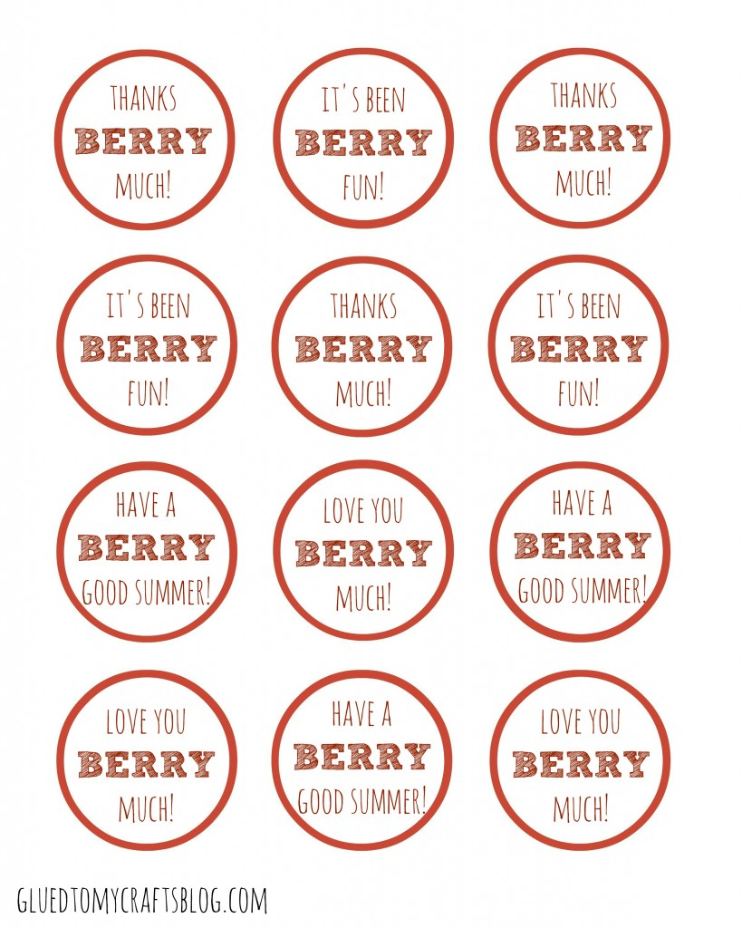photo about Tag Printable titled Berry Significantly - Present Tag Printable