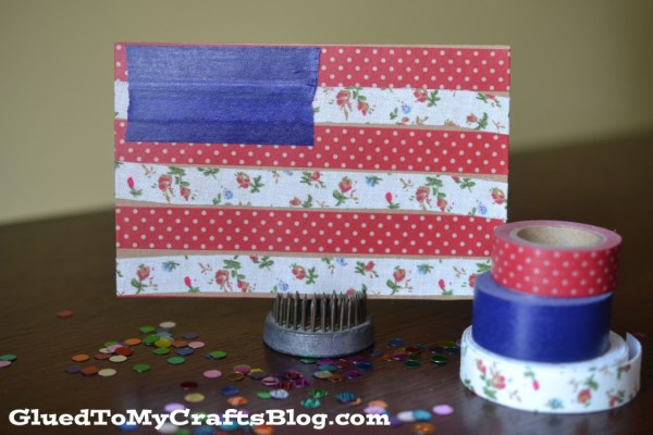 Washi Tape Flag Cards
