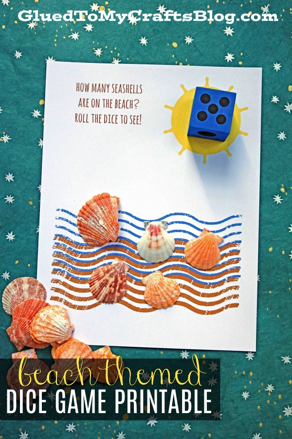 Seashell Themed Dice Game Printable