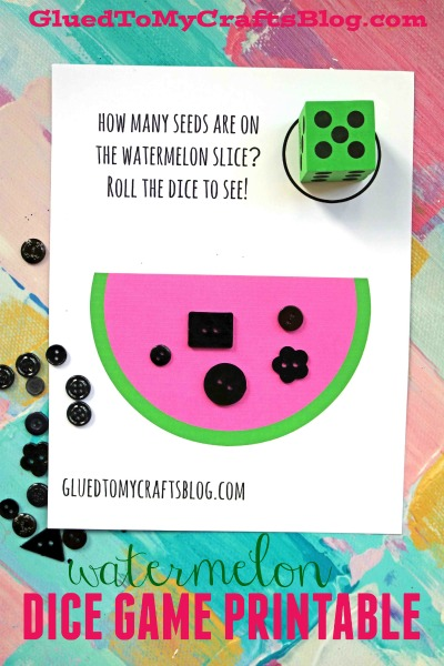 Watermelon Seeds Dice Game Printable