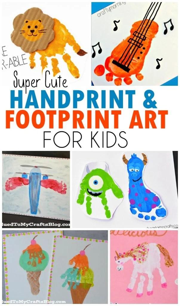 Cute Handprint & Footprint Art Ideas For Kids!