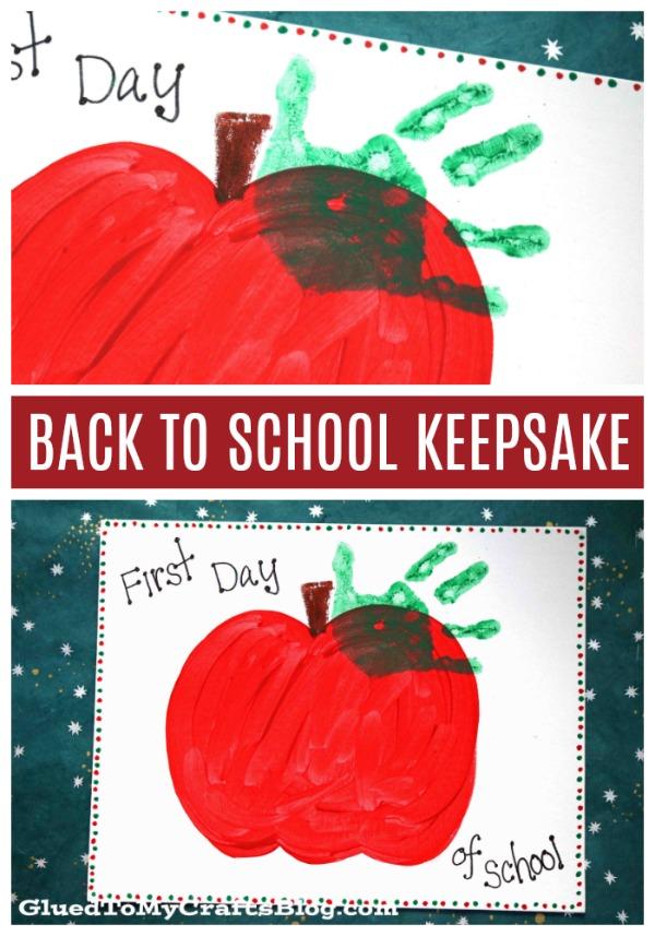 Back To School Apple Handprint Keepsake