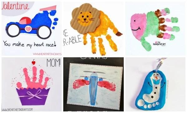 Handprint Footprint Art For Kids Roundup