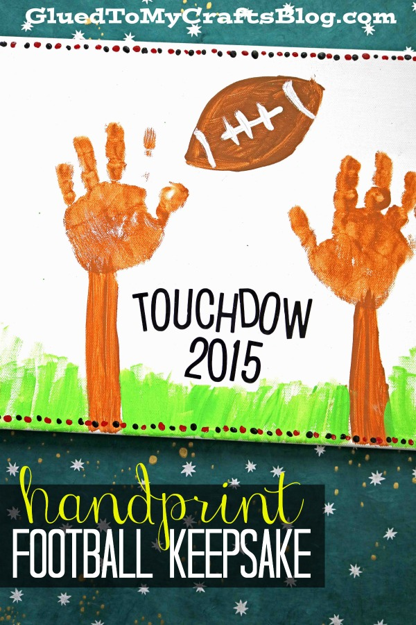 Handprint Football Goal Keepsake