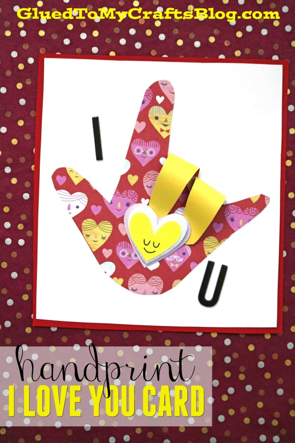 Sign Language I Love You Card - Kid Craft