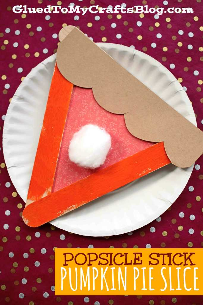 Popsicle Stick Pumpkin Pies - Kid Craft