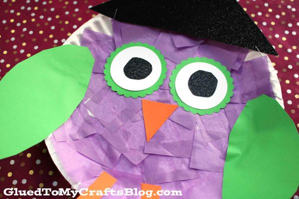 Paper Plate Owl Witch - Kid Craft