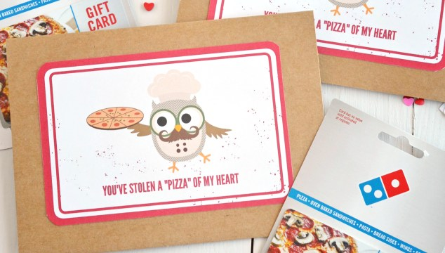 """You've Stolen A """"Pizza"""" Of My Heart – Card Printable"""
