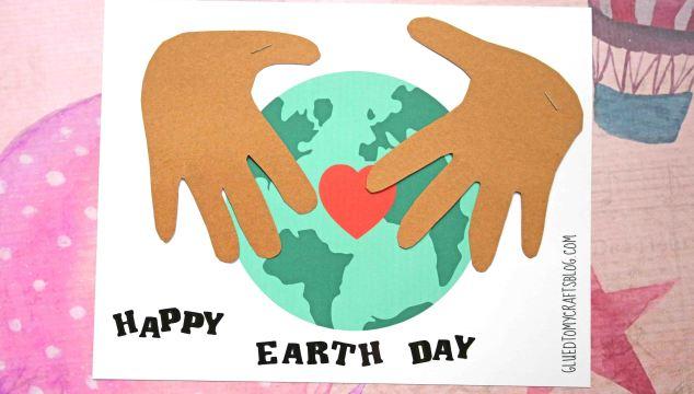 Earth Day Handprint Keepsake w/free printable