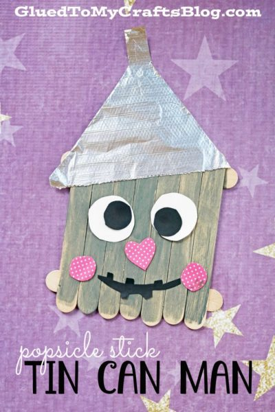 Popsicle Stick Tin Can Man - Kid Craft Idea