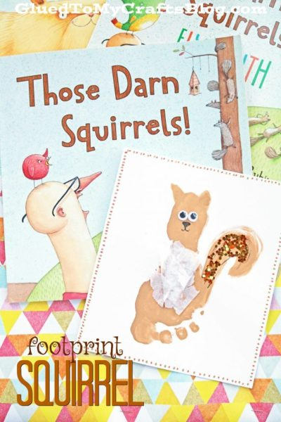 Footprint Squirrel - Kid Craft