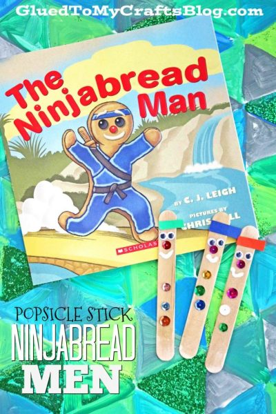Popsicle Stick Ninjabread Men - Kid Craft