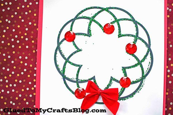 Glitter & Paper Christmas Wreath Kid Craft Idea