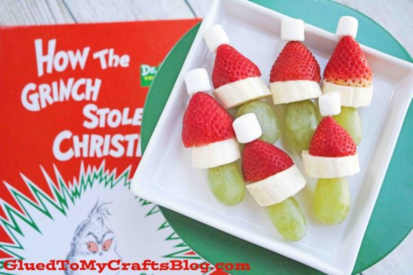 Grinch Fruit Snack Kebabs