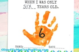 Handprint Birthday Keepsake Printable