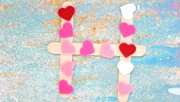 """H"" is for Hearts – Valentine's Day Kid Craft"