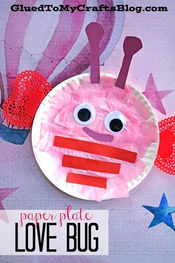 Paper Plate Valentine Love Bug - Kid Craft