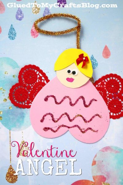 Valentine Heart Angel - Kid Craft