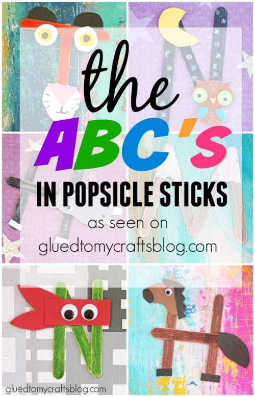 The ABC's In Popsicle Sticks