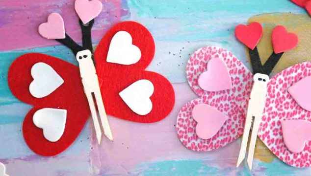 Clothespin Love Bug Butterflies – Kid Craft