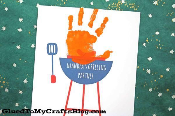 Grandpa's Grilling Partner - Free Handprint Printable