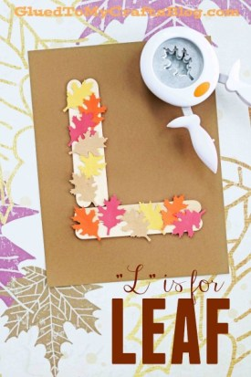 """""""L"""" is for Leaf - Kid Craft Idea"""
