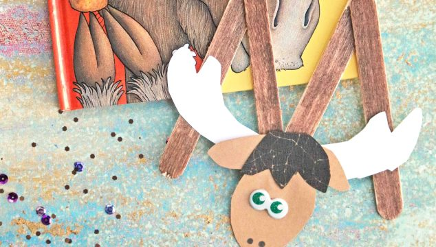 """M"" is for Moose – Popsicle Stick Kid Craft"
