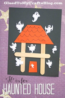 """H"" is for Haunted House - Kid Craft"