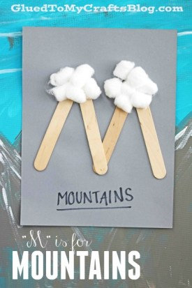 """""""M"""" is for Mountains - Kid Craft Idea"""