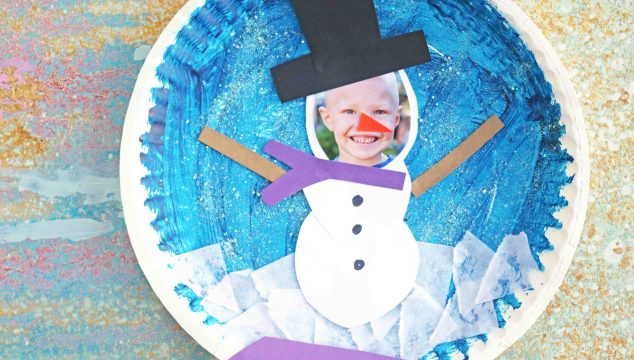 Personalized Paper Plate Snowman Snow Globe – Kid Craft