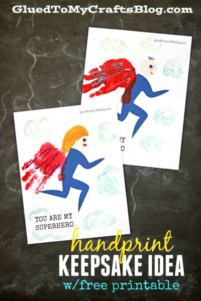Handprint Superhero - Keepsake Printable
