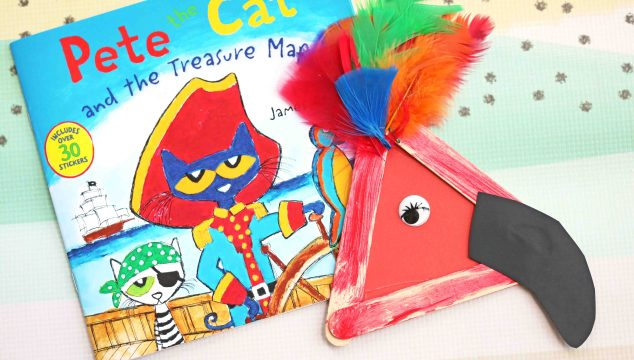 Popsicle Stick Parrot – Kid Craft