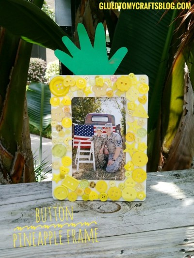Button Pineapple Frame - Kid Craft