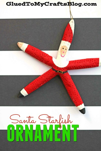 Santa Themed Starfish Ornament
