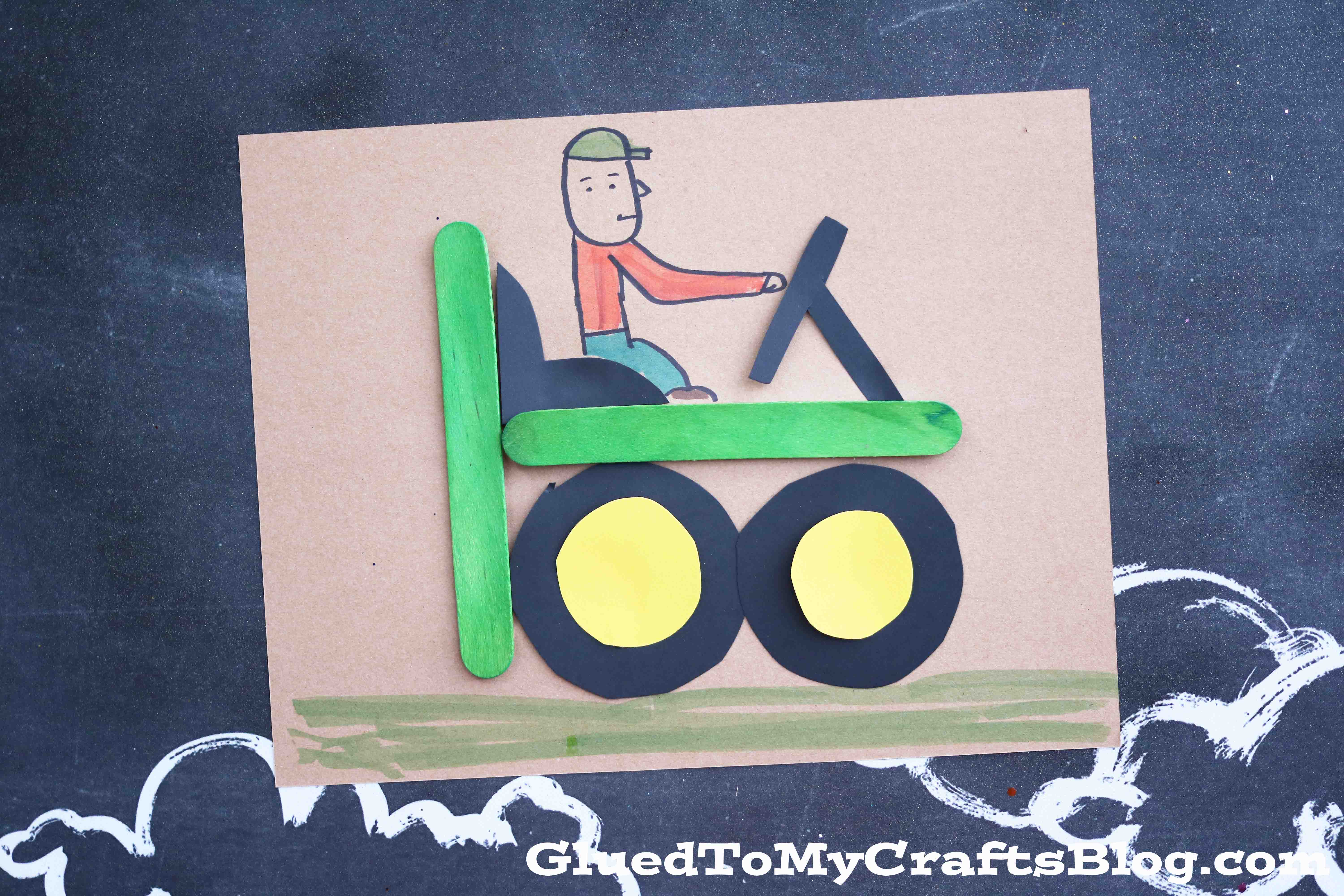 T Is For Tractor Kid Craft Glued To My Crafts