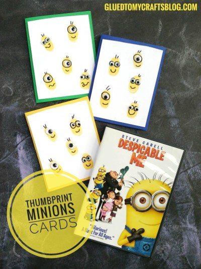 Thumbprint Minions Cards - Despicable Me 3