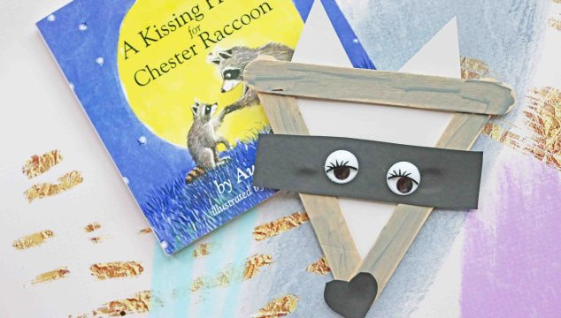 A Kissing Hand – Popsicle Stick Raccoon
