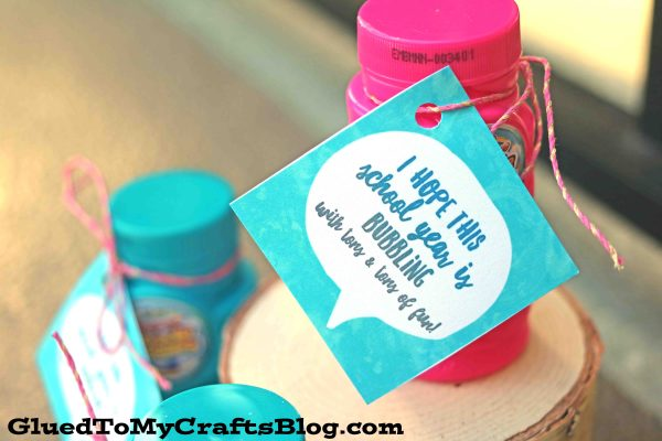 """Back To School """"Bubbling Over"""" Gift Tag Printable"""