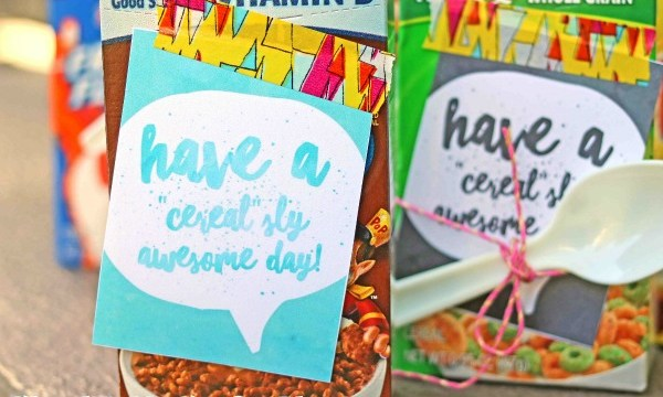 """""""Cereal-sly"""" Awesome Day – Free Gift Tag Printable"""