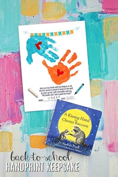 Back To School Handprint Keepsake Printable