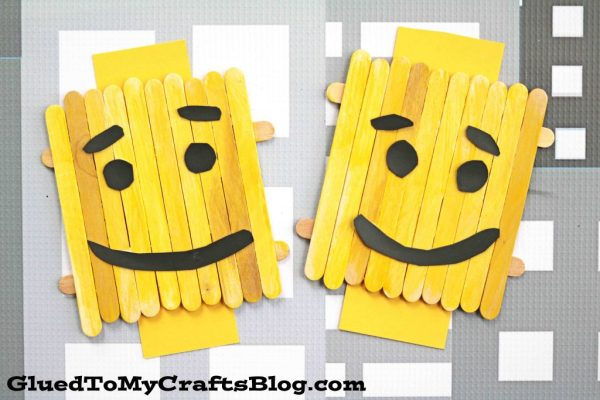 Popsicle Stick Lego Character - Kid Craft