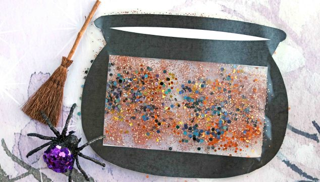 Stained Glass Witch Cauldron – Free Template