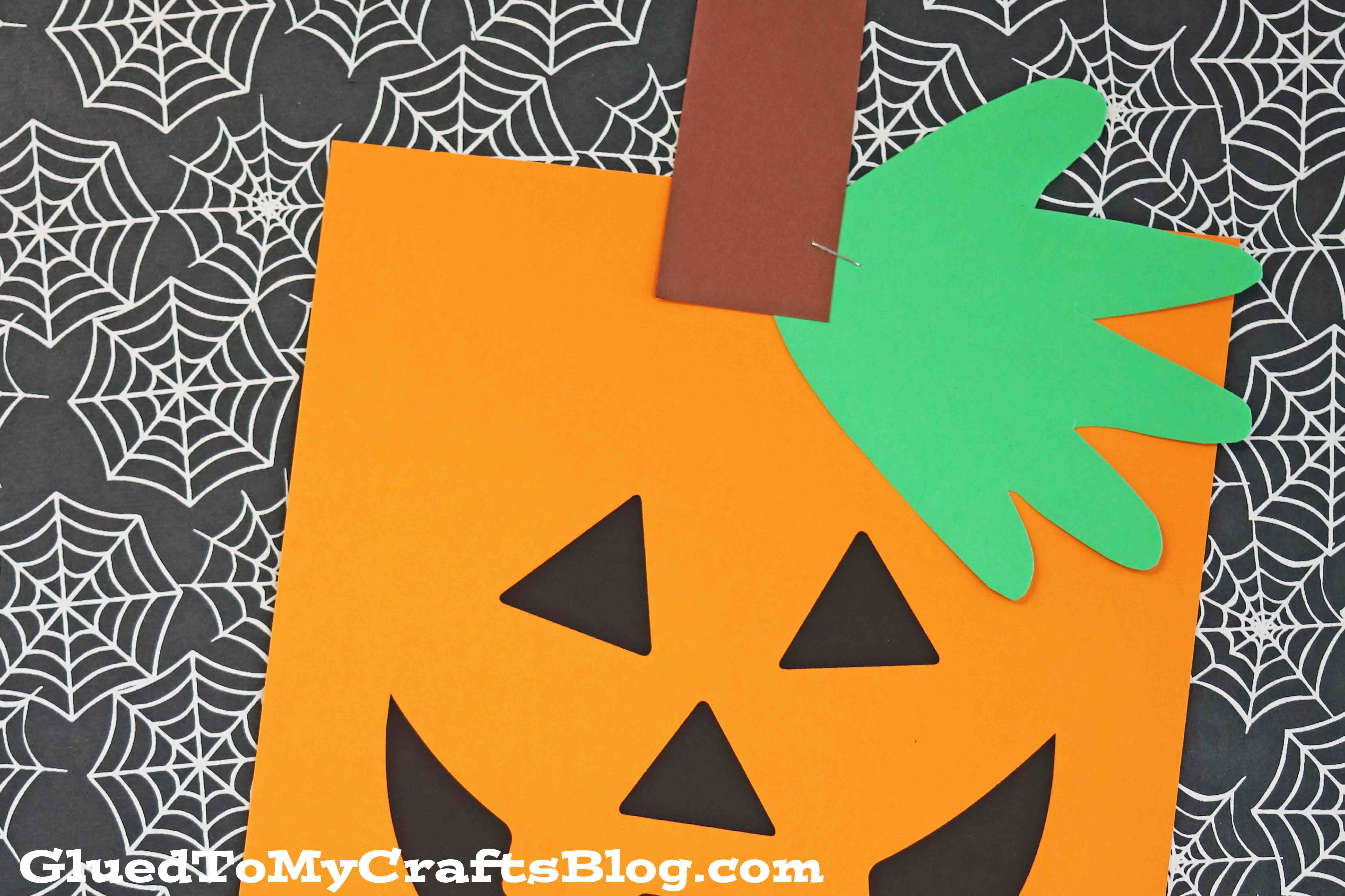 Simple Handprint Jack O Lantern Printable